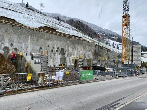 Die neue Anlage der Wohnbauselbsthilfe in Sonntag steht unmittelbar vor der Fertigstellung.VN/JS