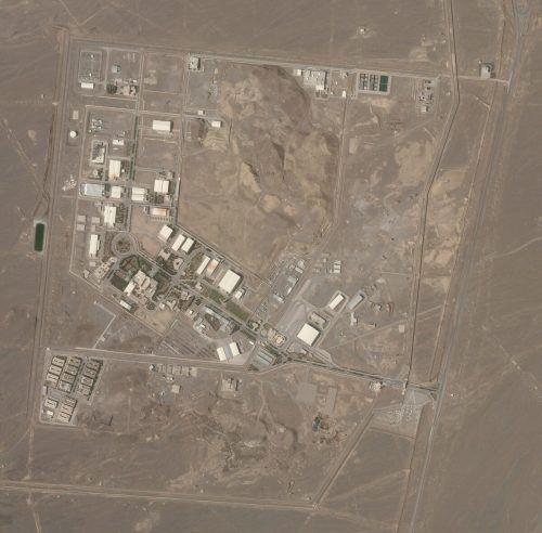 Dieses Satellitenbild zeigt die Atomanlage Natans.Planet labs/AP