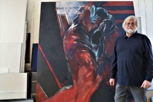 Dietmar Fend begann zu einer Zeit zu malen, als es hieß, die Malerei sei tot, und litt sehr darunter, wie er erzählt.yas (2)