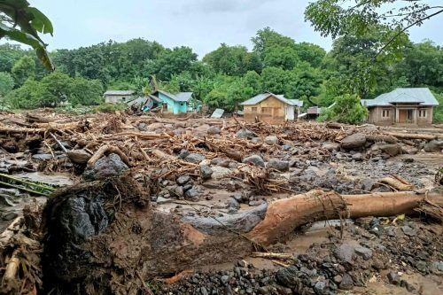 Dutzende Häuser wurden unter den Schlammmassen begraben. afp