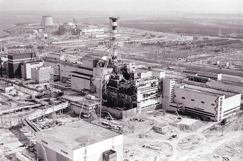 Ein Ort, der viel Unglück und Leid über die Welt brachte: der zerstörte Reaktor von Block vier in Tschernobyl.