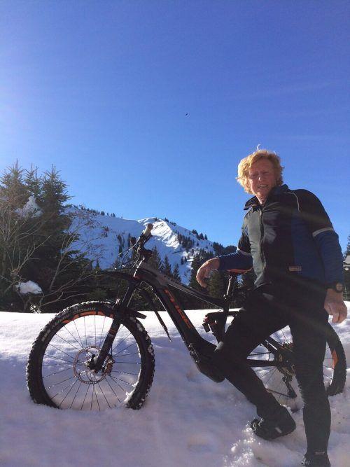 Ewald Berchtold war Extremsportler, heute kann er immerhin noch Mountainbiketouren unternehmen.