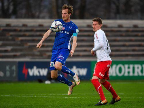Fabian Schubert war der Mann des Spiels. Der Angreifer von BW Linz erzielte drei Treffer und erledigte den FC Dornbirn fast im Alleingang.gepa