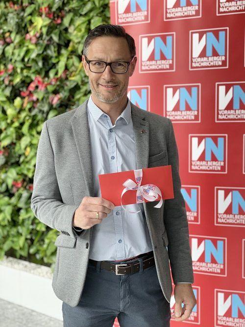 Gerhard Grafoner gewann eine Ballonfahrt für zwei Personen.VN/Steurer