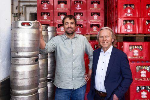 Geschäftsführer Lukas Dorner und Hubert Berkmann präsentieren mehrere neue Produkte und einen neuen Auftritt.