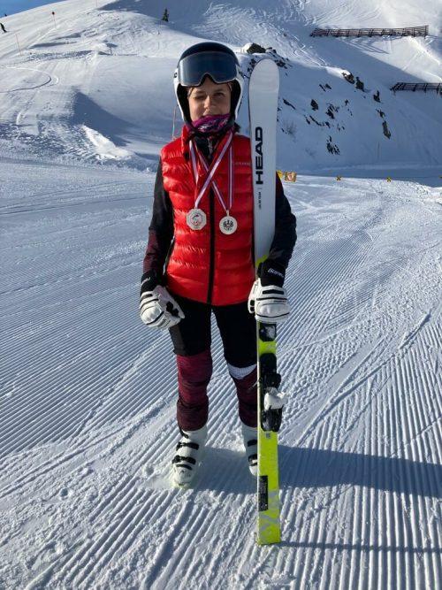 Gleich die erste Medaille für Leonie Handlos bei ihrem Debut bei Staatsmeisterschaften.Privat