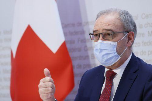 Guy Parmelin will eine Lösung finden, das Abkommen mit der EU weiterzuentwickeln.RTS