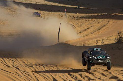 Hatz durch die Wüste: Johan Kristoffersson holte den Sieg für die Rosberg-Equipe.extrem
