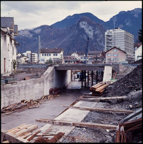 Hohenems, Bahnunterführung, 1973