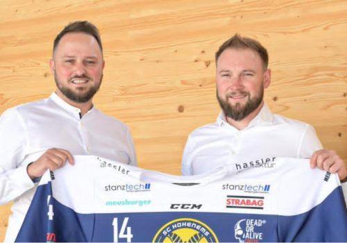 HSC-Präsident Mike Töchterle und Neo-Obmann David Posmik.mima