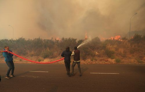 Hunderte Feuerwehrleute kämpfen gegen die Flammen, einige von ihnen wurden während des Einsatzes verletzt. reuters