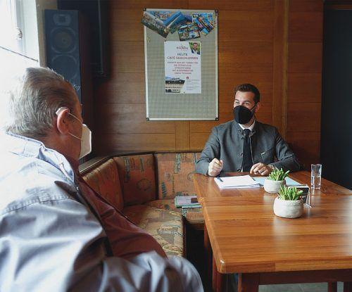 Im Gespräch mit den Haushaltsvertretern bekam Bürgermeister Simon Tschann einen Einblick in die Gefühlswelt der Siedlungsbewohner. Stadt