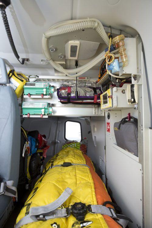 Im Notfall geht es für Coronapatienten gut versorgt ab durch die Luft.vn/RP
