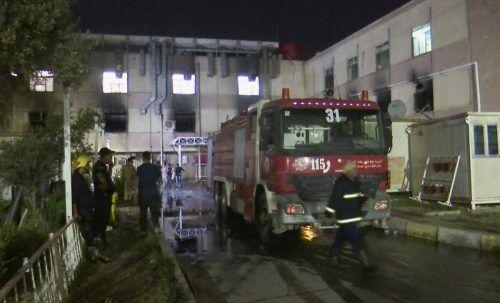 In dem Krankenhaus sind falsch gelagerte Sauerstoffflaschen explodiert. AP