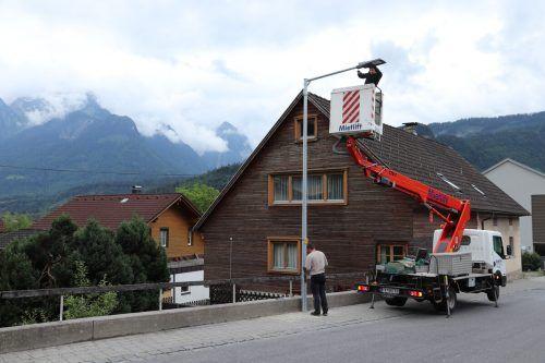 In Nüziders werden heuer weitere rund 90 Straßenlaternen auf LED-Lichtkörper umgerüstet. Gemeinde