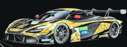 In Schwarz und Gold, den Farben von JP-Motorsport, präsentiert sich der Bolide von Christian Klien für die DTM-Einsätze.JPM