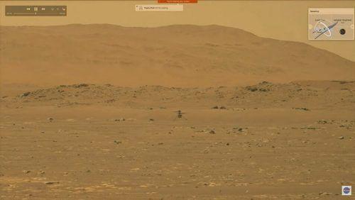 """Ingenuity"" ist gestern erstmals vom Mars abgehoben. nasa/afp"