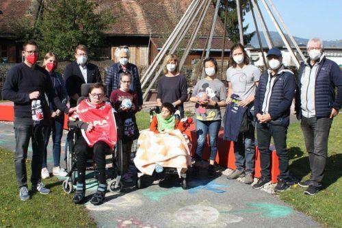 Insgesamt 50 Kinder und Jugendliche des Schulheims Mäder beteiligten sich mit Freude und Begeisterung an der Ball-Challenge.VN/Knobel