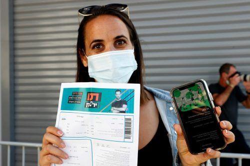 Israel hat den Grünen Pass bereits. Er gewährt unter anderem Zutritt zu Veranstaltungen.AFP