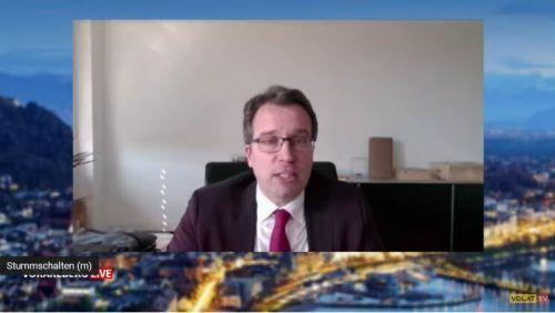 Johannes Kopf, Vorstandsmitglied des AMS Österreich, war aus Wien zugeschaltet.