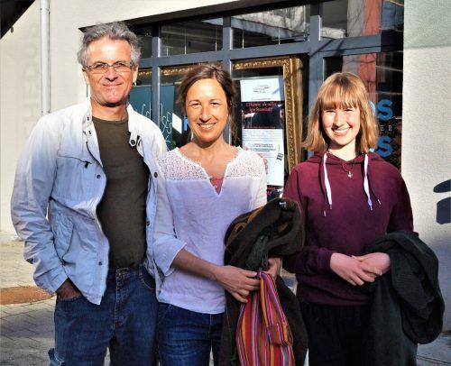 Johannes Ruf, Daniela und Maja Prestel freuten sich auf die Veranstaltung.