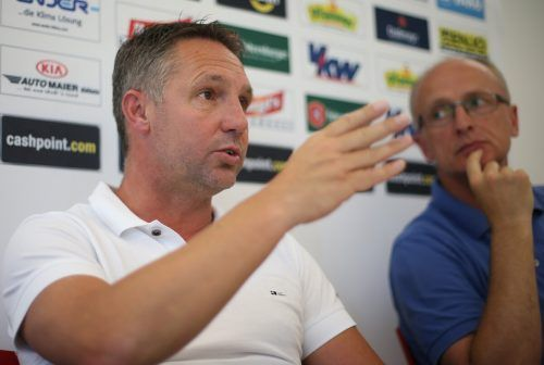 Juni 2014: Pressekonferenz nach dem Aufstieg in die Bundesliga.gepa