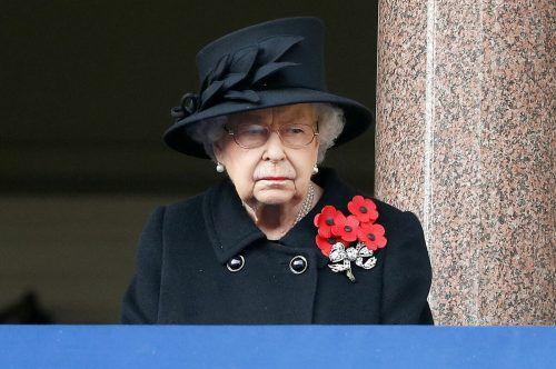 Königin Elizabeth II.nahm an der Zeremonie zur Verabschiedung eines ranghohen Beamten in den Ruhestand teil. AFP