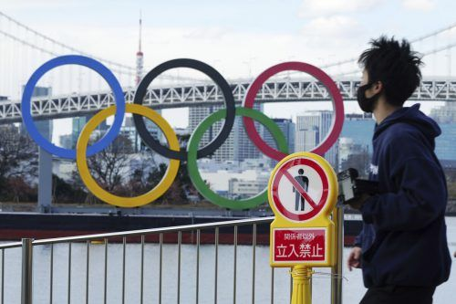 Kurz vor Beginn der Olympischen Spiele in Tokio im Sommer verschärfte die Hauptstadt Tokio ihre Maßnahmen wegen erhöhter Zahlen an Coronainfektionen.ap