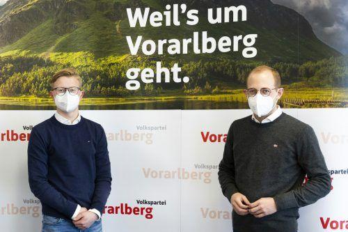 Landesgeschäftsführer Alexander Müller und Landesobmann Raphael Wichtl. JVP
