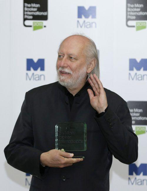 Laszlo Krasznahorkai erhält den Staatspreis für europäische Literatur. ap