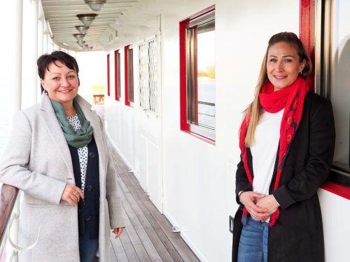 Marion Gafgo und Dominique Zug (Historische Schifffahrt Bodensee).