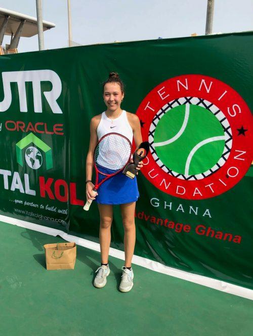 Mia Liepert feierte in Ghana ihren ersten ITF-Titelgewinn.privat