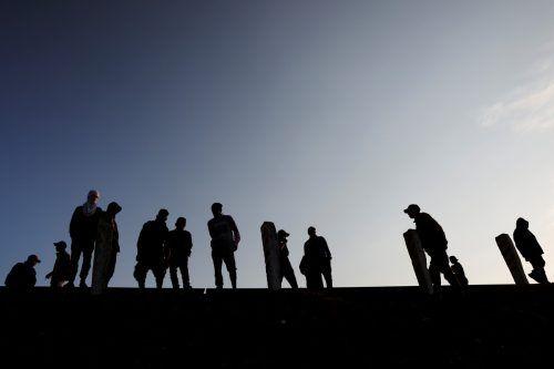 Migranten aus Zentralamerika setzten ihre beschwerliche Reise in Richtung der Vereinigten Staaten in Apizaco, Mexiko, fort. reuters