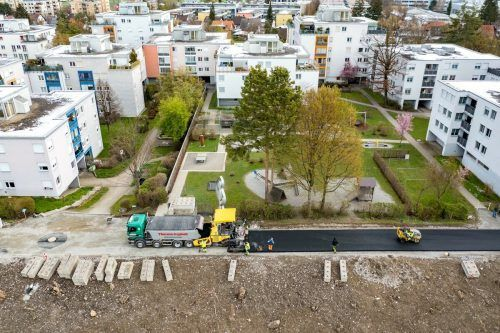 Mit den Asphaltierungsarbeiten am Dammweg fand der erste Bauabschnitt jetzt seinen Abschluss.Wasserverband Bregenzerach/ Stiplovsek