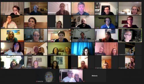 Mitglieder der Singgemeinschaft Hard beim Zoom-Treffen. Singgemeinschaft hard