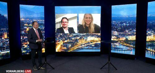Moderatorin Mirjam Weichselbraun und TV-Produzent Tommy Schmidle erzählten bei Vorarlberg Live über ihren neuen Podcast.