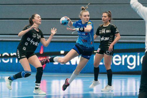 Nach dem Elferpack hält Elisabeth Schneider bei 135 Toren in dieser Saison. VN/DS