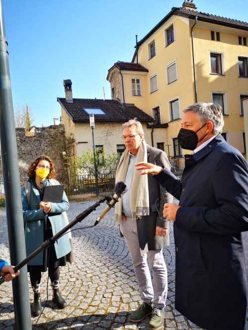 Neben anderen begleitete Bürgermeister Wolfgang Matt die Experten.