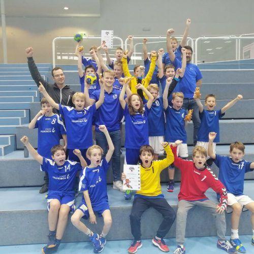 Nicht nur die U10-Mannschaft der Montfortstädter Burschen kann das nächste Handballturnier kaum erwarten, ...privat