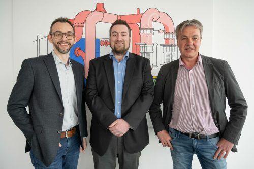 Oliver Mangeng, Markus Intemann und Hubert Rädler führen die Intemann GmbH. wpa
