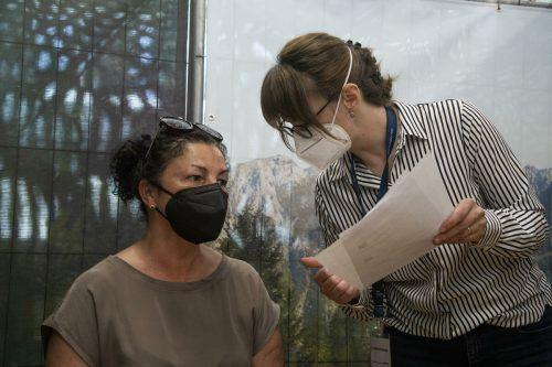 Rosmarie Faber blickt nun ihrer Zweitimpfung im Juni entgegen. VN/Paulitsch