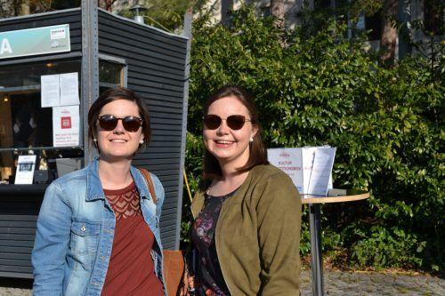 Sabrina und Anna Rinderer ließen sich die Veranstaltung nicht entgehen.