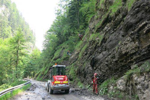 Felsräumarbeiten machen in der kommenden Woche Straßensperren notwendig. Stadt