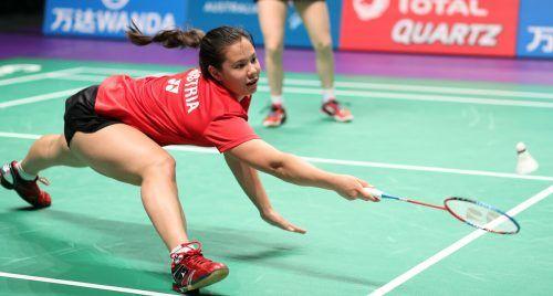 Serena Au Yeong spielt bei der EM in Kiew zusammen mit Katharina Hochmeir im Damendoppel und mit Dominik Stipsitis im Mixed.GEPA