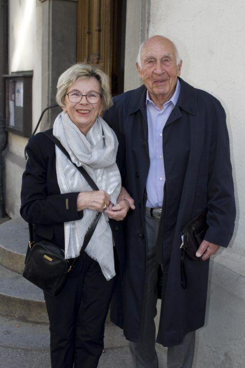 Sigrid Ritter und Paul Knott lauschten den feinen Tönen.
