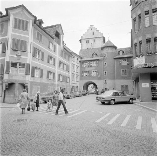 Stadteinwärts der Zugang zur Innenstadt, führte einst ...