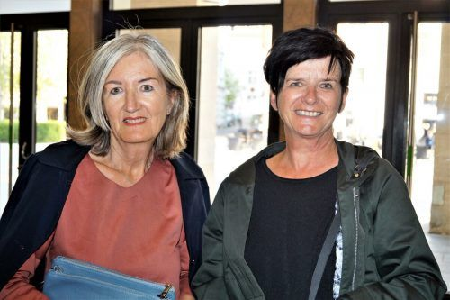 Ulrike Gorbach und Ruth Reithmayr zu Gast bei der Lesung in der Vorarlberger Landesbibliothek in Bregenz. yas/7