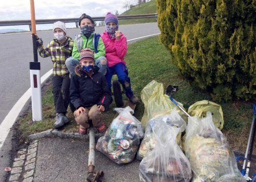 Unmengen an Müll wurden in Weiler eingesammelt und abgegeben.Gemeinde