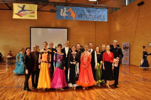 Unsere Paare ertanzten im Jahr 2020 bei nationalen Meisterschaften den sensationellen ersten Platz. tsc blau-gold Dornbirn Lustenau