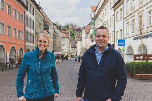 Vizeobfrau Juliette Müller und Obmann Mario Sieber übernehmen ab sofort die Leitung der Werbegemeinschaft der Einkaufsstadt Feldkirch.